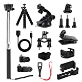 Osmo Pocket Expansion Accessories Kit, KIWI design DJI Osmo Pocket Mounts, Backpack Clip, Tripod, Phone Holder, WiFi Tripod Adapter
