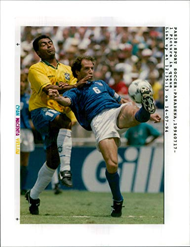 192ee5e60 Fotomax Vintage Photo of Italy s Franco Baresi (r) Against Brazil s Romario