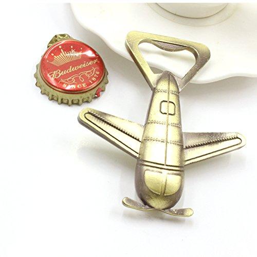 Happy Star® Neuheit Kupfer Vintage Stil antik Flugzeug Flaschenöffner für Bier (Antik-neuheit)