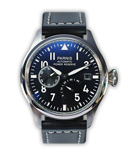 parnis-mechanische-automatikuhr-modell-2055-fliegeruhr-edelstahl-lederarmband-seagull-markenuhrwerk-