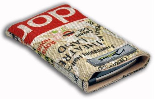 Norrun Handytasche / Handyhülle # Modell Lindis # ersetzt die Handy-Tasche von Hersteller / Modell Samsung SGH-i320 # maßgeschneidert # mit einseitig eingenähtem Strahlenschutz gegen Elektro-Smog # Mikrofasereinlage # Made in Germany