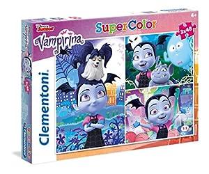 Clementoni-Clementoni-25229-Supercolor-Vampirina-3 x 48 Pièces Puzzle, Multicolor (25229)
