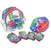 PJ MASKS-Set with Backpack, Helmet and protections (amijoc Toys 2938)