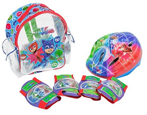PJ Masks- Set con Mochila, Casco y Protecciones (Amijoc Toys 2938)