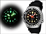 Taucher Uhr m. Automatik Werk Saphir Glas PU Band Helium Ventil T0079 - 2