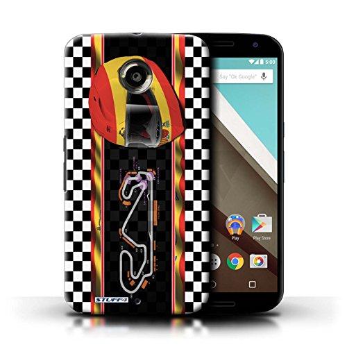 Kobalt® Imprimé Etui / Coque pour Motorola Nexus 6 / Italie/Monza conception / Série F1 Piste Drapeau Espagne/Catalogne