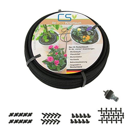 CS Mikro Bewässerung Set Blumentopf, Pflanzkübel, Balkon, Terrassen- und Urlaubsbewässerung10m Z2.00