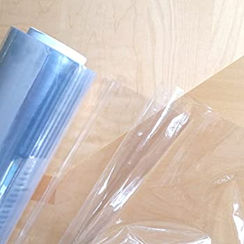 PVC Crystal Clear Vinyl Table Protector Per Meter, 55 Inches (140cms)  Approx. Width   0.16 Mm 150 Micron By Discover Direct