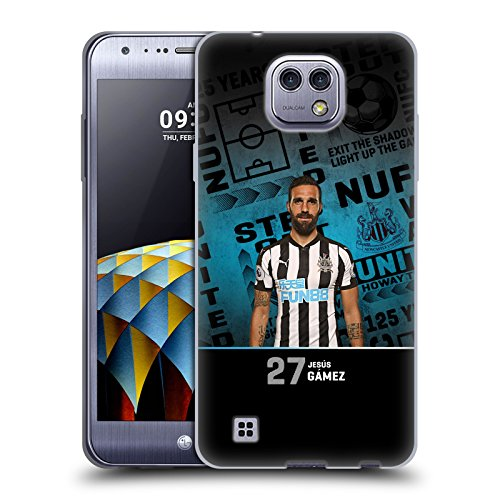 Offizielle Newcastle United FC NUFC Jesús Gámez 2017/18 Erstes Team 2 Soft Gel Hülle für LG X cam (Gam Cam)