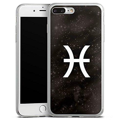 Apple iPhone X Slim Case Silikon Hülle Schutzhülle Fische Sternzeichen Astrologie Silikon Slim Case transparent