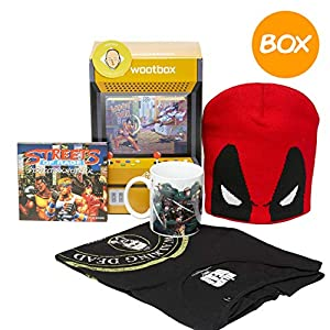 WOOTBOX Fight - Caja de Regalo - The Walking Dead - Attack on Titans - Deadpool - Streets of Rage - Tamaño: WTB-2017-011-FR-00F-000M-000, Color Negro y Naranja