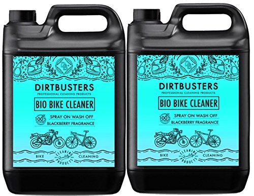 Dirtbusters Bio-Reiniger für Fahrrad/Motorrad, mit Mikroben und Enzymen, umweltfreundlich, 2 x 5 Liter