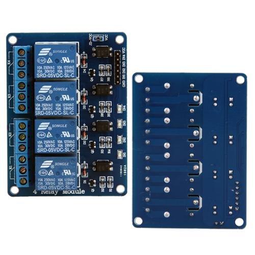 Ecloud Shop 4 Kanal 5V Relay Relais Module Modul für Arduino PIC DSP PLC TTL -