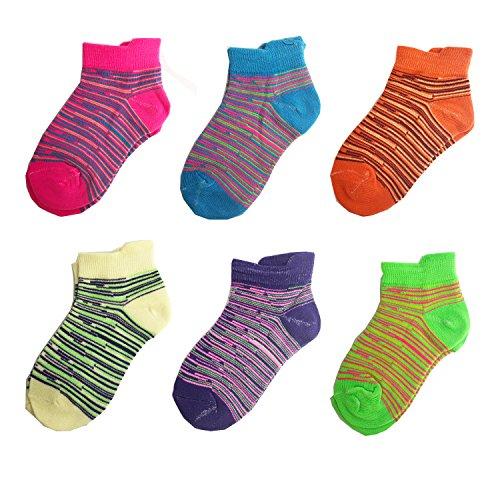 12er Libella Kinder Mädchen Sneaker Socken Kids Füßlinge Sneakersocken bunt 2109 27-30