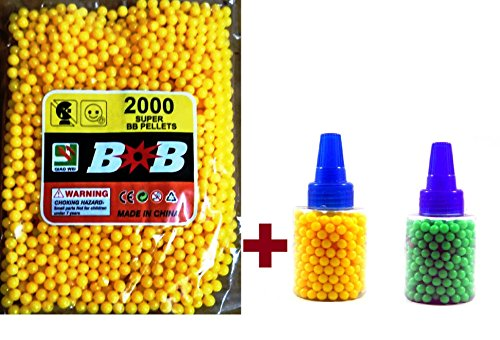 High Grade BB Pellets For Toy Gun airsoft approx. 2000 'Color May Vary'