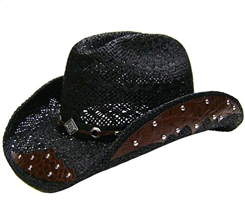 modestone-straw-cowboy-hat-breezer-metal-diamond-concho-studs-hatband-black
