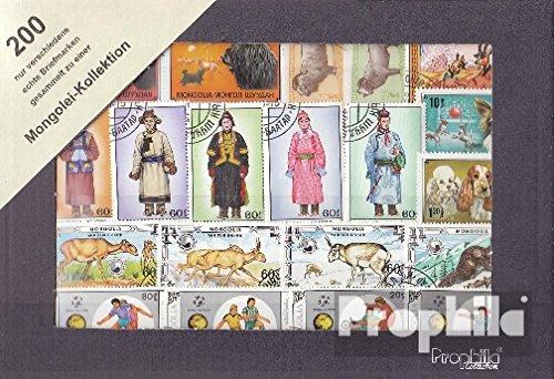 Prophila Collection Mongolei 200 verschiedene Marken (Briefmarken für Sammler)