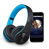 Wireless Bluetooth Headphones With Built-In Microphone, Foldable, Creative Bluetooth Headsets Over-Ear , Support Tf Card With Extra Audio Cable For Most Smart Phones, Laptop , 3