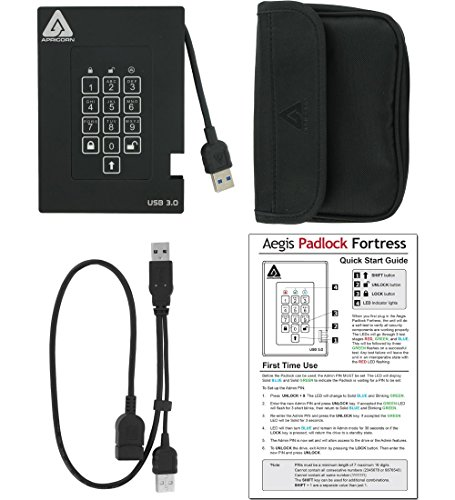 Apricorn A25-3PL256-S128F 128GB External Hard Disk Black Price in India