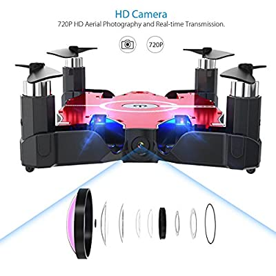 GoolRC T49 Nano Drone with 720P HD Camera 6-Axis Gyro WIFI FPV Foldable G-sensor Selfie Pocket Quadcopter