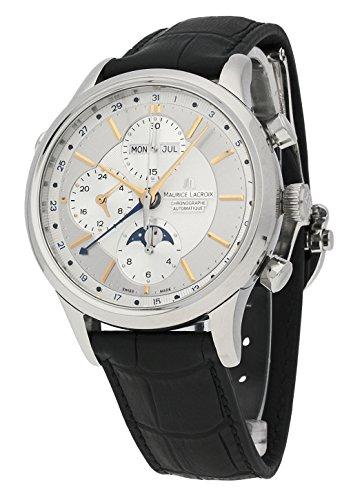 Maurice Lacroix Les Classiques-Reloj de Pulsera Cronógrafo Phases de Lune Completo Calendario Analógico Automático lc6078de SS001-131-1