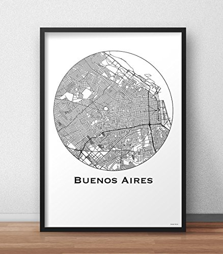 plakat-buenos-aires-argentinien-minimalist-map-city-map-dekoration-geschenk