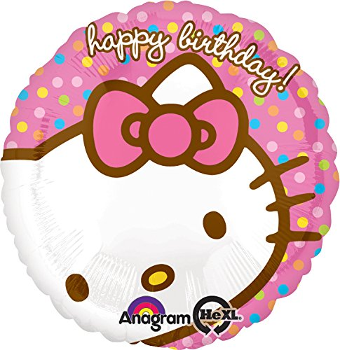 Amscan Ciao Kitty Buon compleanno standard Foil Palloncino - Hello Kitty Birthday Party Balloons