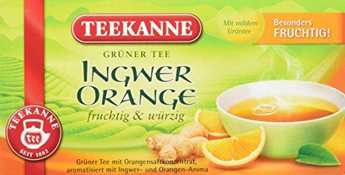 Tee Grüner Ingwer (Teekanne Grüner Tee Orange & Ingwer 20 Beutel, 6er Pack (6 x 35 g Packung))