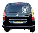 Autoaufkleber Englische Bulldogge Kopf Art.Nr.ATK0134 Auto Aufkleber Wohnmobil Wohnwagen Hundekopf amberdog
