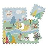 Chicco Move 'N Grow, Tappeto Puzzle di Bambi