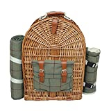 Rot behindern fh0754Personen grün Tweed Fitted Picknick Back Pack, braun, 50x 21x 36cm -