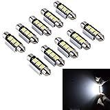PolarLander 10pcs 2SMD Canbus 36mm 5050 LED C5W führte Dome-Lichter-Kfz-Kennzeichen-Lichter-Beschaffungs-Lesebirnen-Dach-Lampe