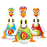 Early Education 18 Months + Olds Baby Hip Hop Swing Goose Duck Children tumbler animal toys for Children & Kids Boys and Girls(Random Color)