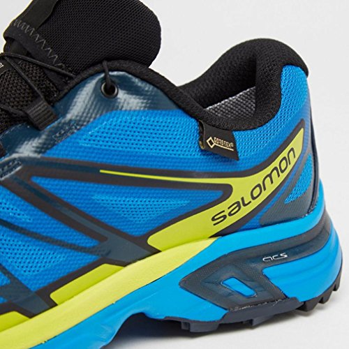 Salomon Wings Pro 2 GTX - Chaussures de running - jaune/bleu 2016 blue