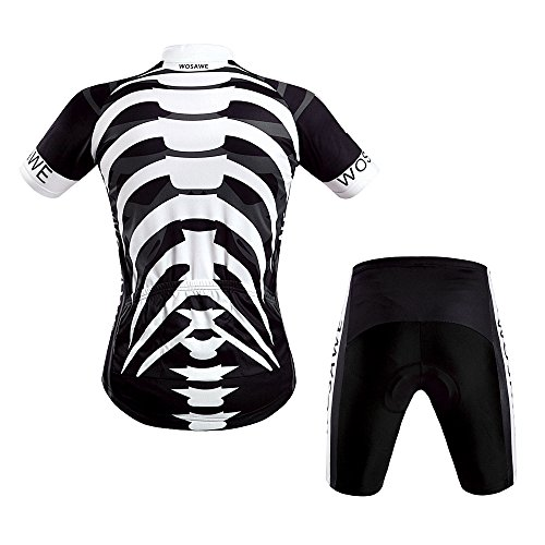 Lixada Fahrrad Trikot Bike Jersey+ Shorts atmungsaktiv Reiten Jacke Hose für Outdoor Radf