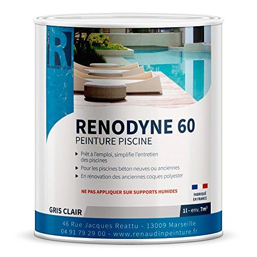 Renaudin Peinture 160702 60 Piscine Pot de peinture Gris Clair 1 L,