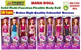 #2: TOY-STATION - Fashion HANA Doll with 3D Eyes & Made to Move Hands (HANA Fashion Doll with 3 D Eyes & Made to Move Hands)