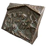 Bronze Relief Krippe hl. 3 Könige Standrelief 10,5 cm * 8,5 cm