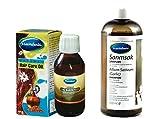 Mecitefendi Knoblauch Shampoo 400ml plus Mecitefendi natürliches Haarpflege Öl 100 ml. (Spitze gegen Haarausfall)