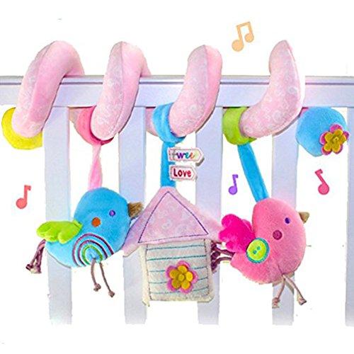 Fancyku Spiral Toy Stroller Toy Bed Hanging Toys Baby Car Seat Toy Random