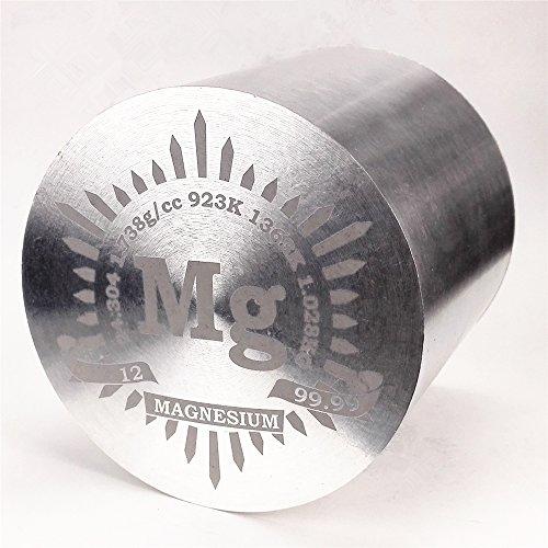 1kg Fein Wenden Magnesium Metall Zylinder 91mm × 91mm 99,99% Gravur Periodensystem
