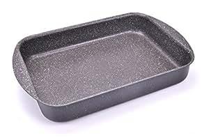 Alluflon Etnea Lasagnera, Alluminio Antiaderente Effetto Pietra, Nero, 31