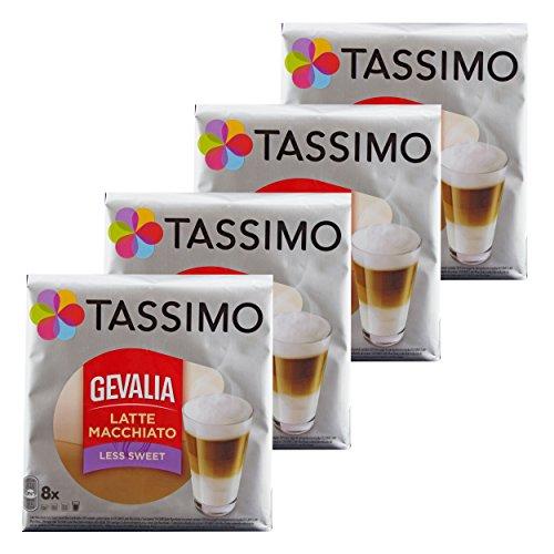 e Macchiato Less Sweet, Weniger Süß, Gemahlener Röstkaffee, Kaffeekapsel, 32 T-discs ()