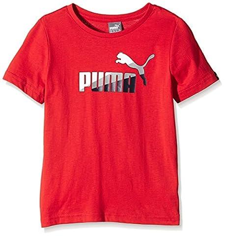 Puma Fun Td Graphic T-Shirt Garçon Rouge FR : 14 ans (Taille Fabricant : 164)