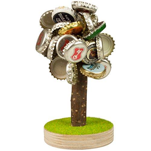 GeschenkIdeen.Haus - Bierbaum -  Magnetischer Baum für Kronkorken von Bierflaschen