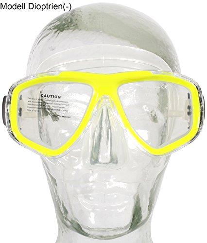 Aqua-Speed® Optic Masque de plongée avec verres correcteurs (+1,75, +2,25et +2,75 et de -1,0à -8,5)Disponible en 3couleursPersonnalisable, gelb / 18, +1.75