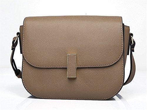 Xinmaoyuan Borse donna in vera pelle pacchetto Ladies Casual spalla Messenger quadrato piccolo sacchetto,kaki Kaki