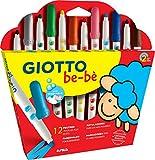 Giotto be-bè 469900–Coffret de 12maxi marqueurs pour les plus petits