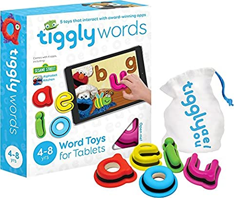 Tiggly Words Interactive Learning Toys with Award Winning Language/Phonics and Word Building Spelling Games for Kids (4-8 Years)