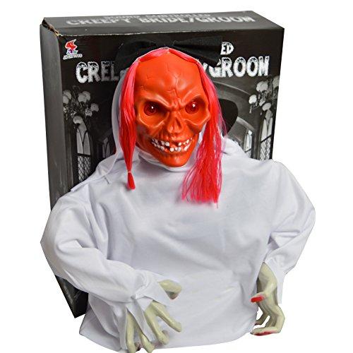 y House Stimme Kontrollierte Skelett Braut Spielzeug Horror Prop Zubehör ()